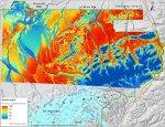 Predictability map for dwarf birch