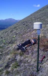 air temperature sensor on slope